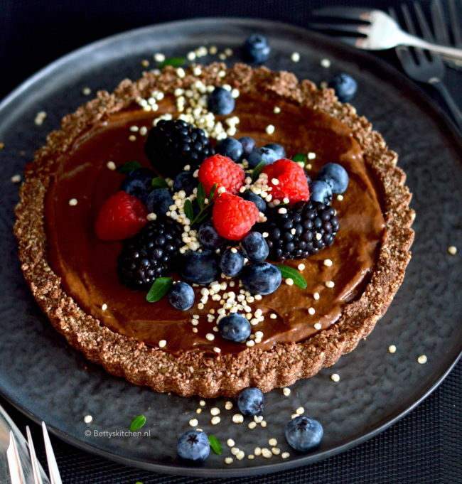 recept havermouttaart met chocolade room © bettys kitchen