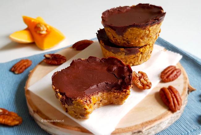 Havermout taartjes met pompoen en chocolade © Bettyskitchen