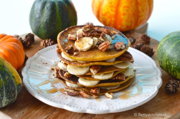 10x Pancakes Recepten voor ontbijt of brunch inspiratie © Bettyskitchen.nl - recept voor zelf pumpkin pancakes maken ontbijt © bettyskitchen.nl