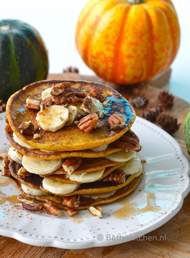 recept voor zelf pumpkin pancakes maken ontbijt © bettyskitchen.nl