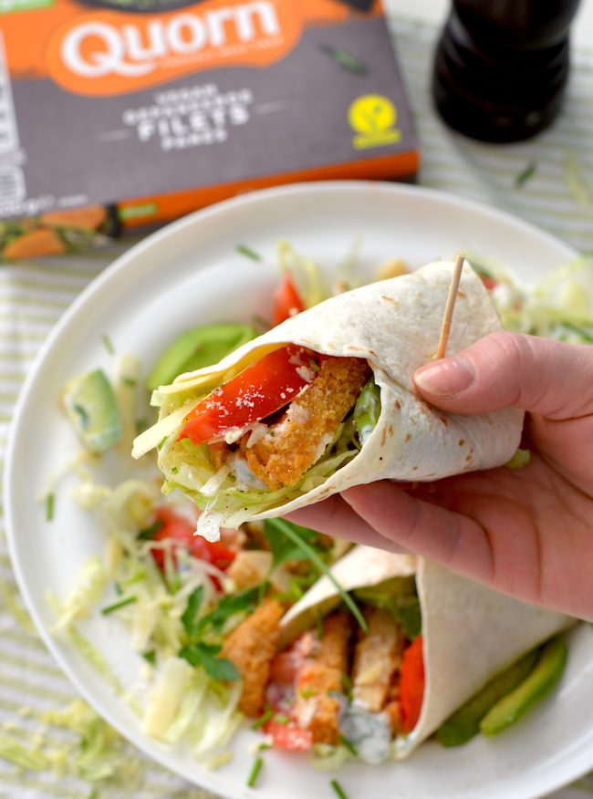 Wraps met krokante kip vegan recept © bettyskitchen.nl