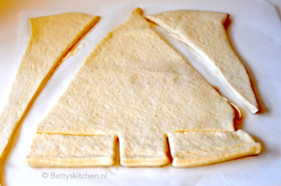 recept kerstboom pizza met spinazie en kaas © bettys kitchen