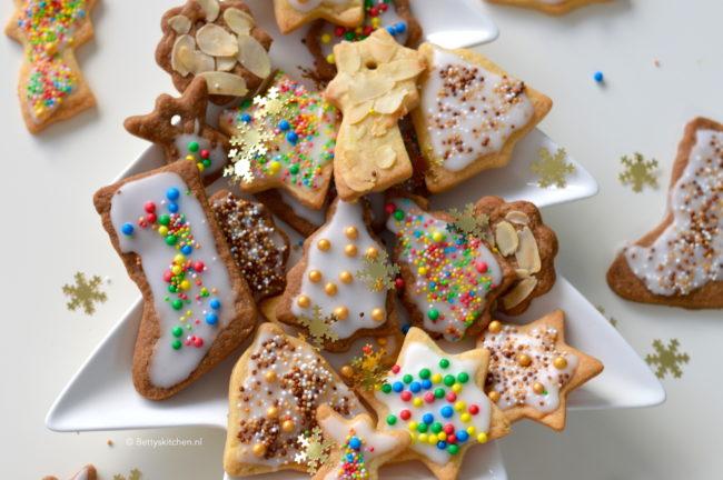 recept kerst koekjes maken met glazuur en disco dip © bettyskitchen