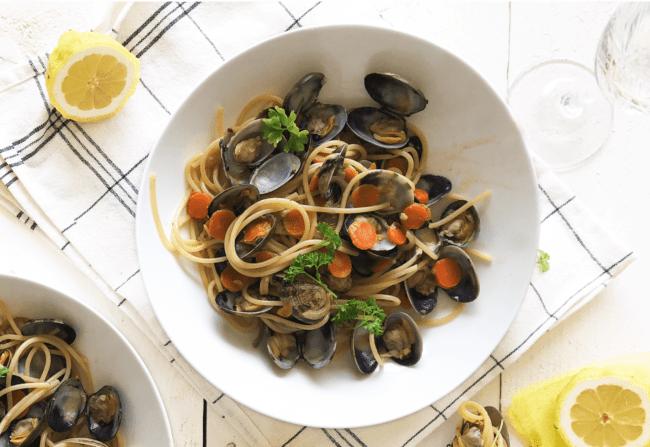 recept spaghetti vongole pasta met zeevruchten