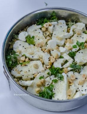 recept boerenkool cake met halloumi en hazelnoten vegetarisch © bettyskitchen