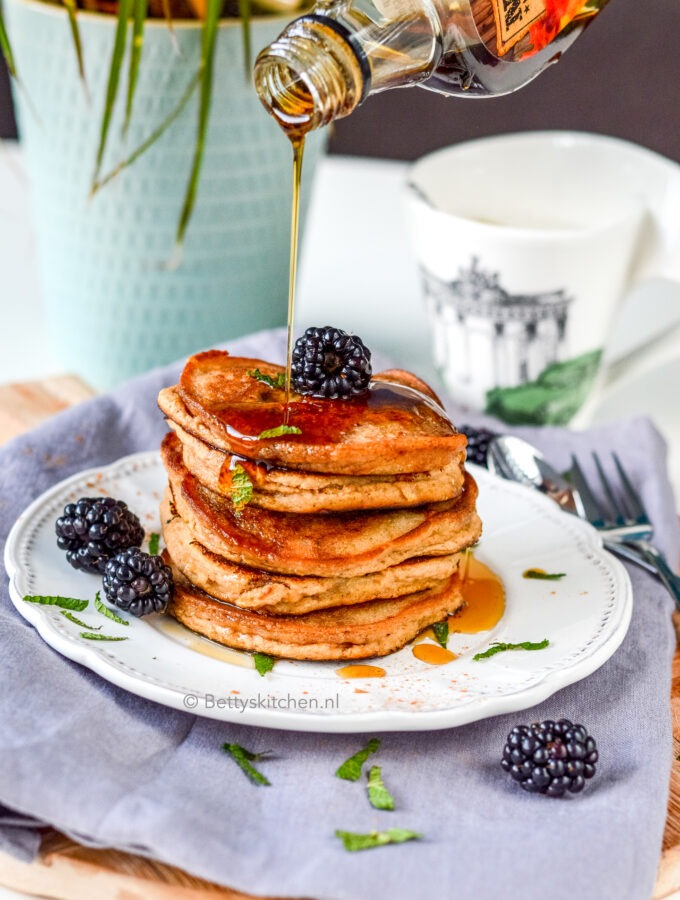 recept low carb pancakes met amandelmeel en kokosmeel © bettys kitchen