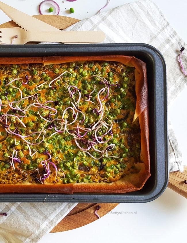 10x vegetarische recepten - Indiase currytaart met erwtjes en linzen 1