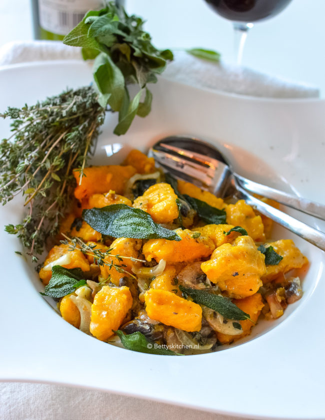 recept pompoen gnocchi © bettyskitchen
