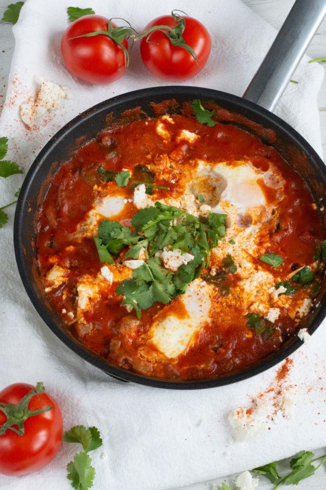 recept shakshuka met eieren