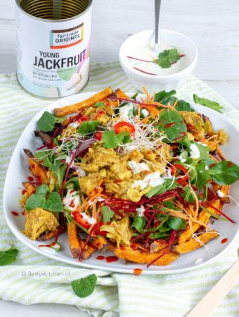 recept vegan kapsalon met jackfruit fairtrade © Bettyskitchen.nl