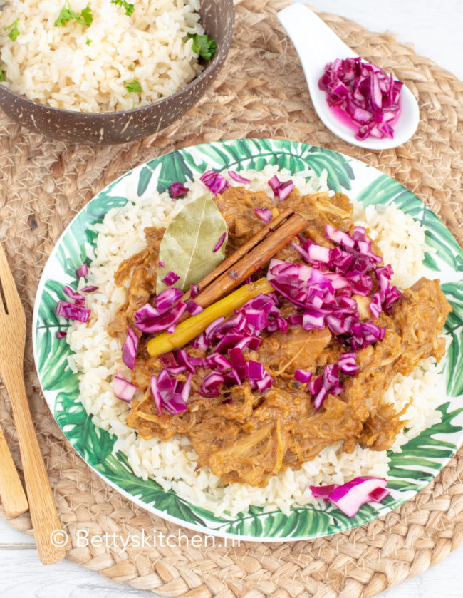 recept vegan rendang van jackfruit © bettyskitchen