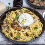 recept pasta met salie boter paddestoelen en burrata