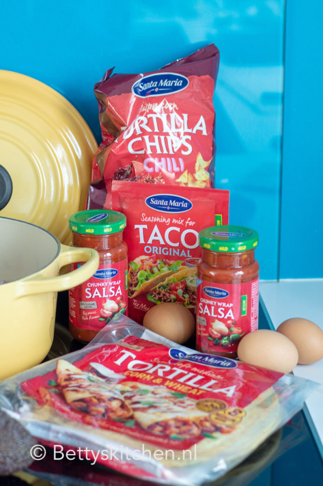 recept tortilla met eieren en tomatensaus Tex Mex style © bettyskitchen