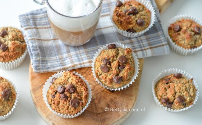 recept ontbijtmuffins met banaan en chocolade © bettyskitchen