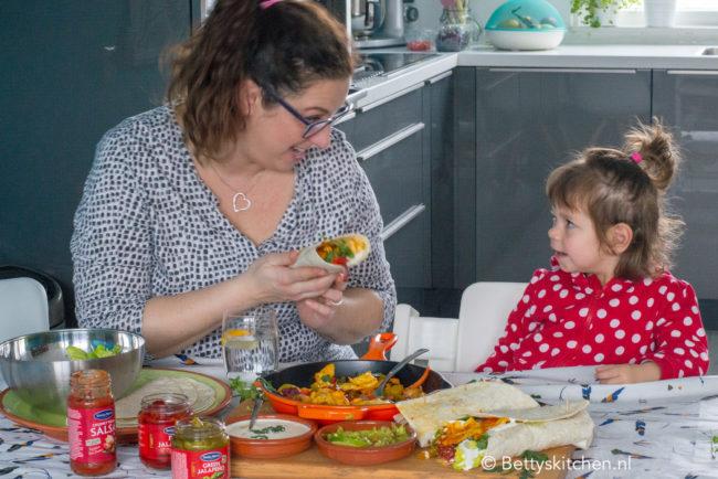 recept vegetarische fajitas met halloumi kaas © bettyskitchen.nl