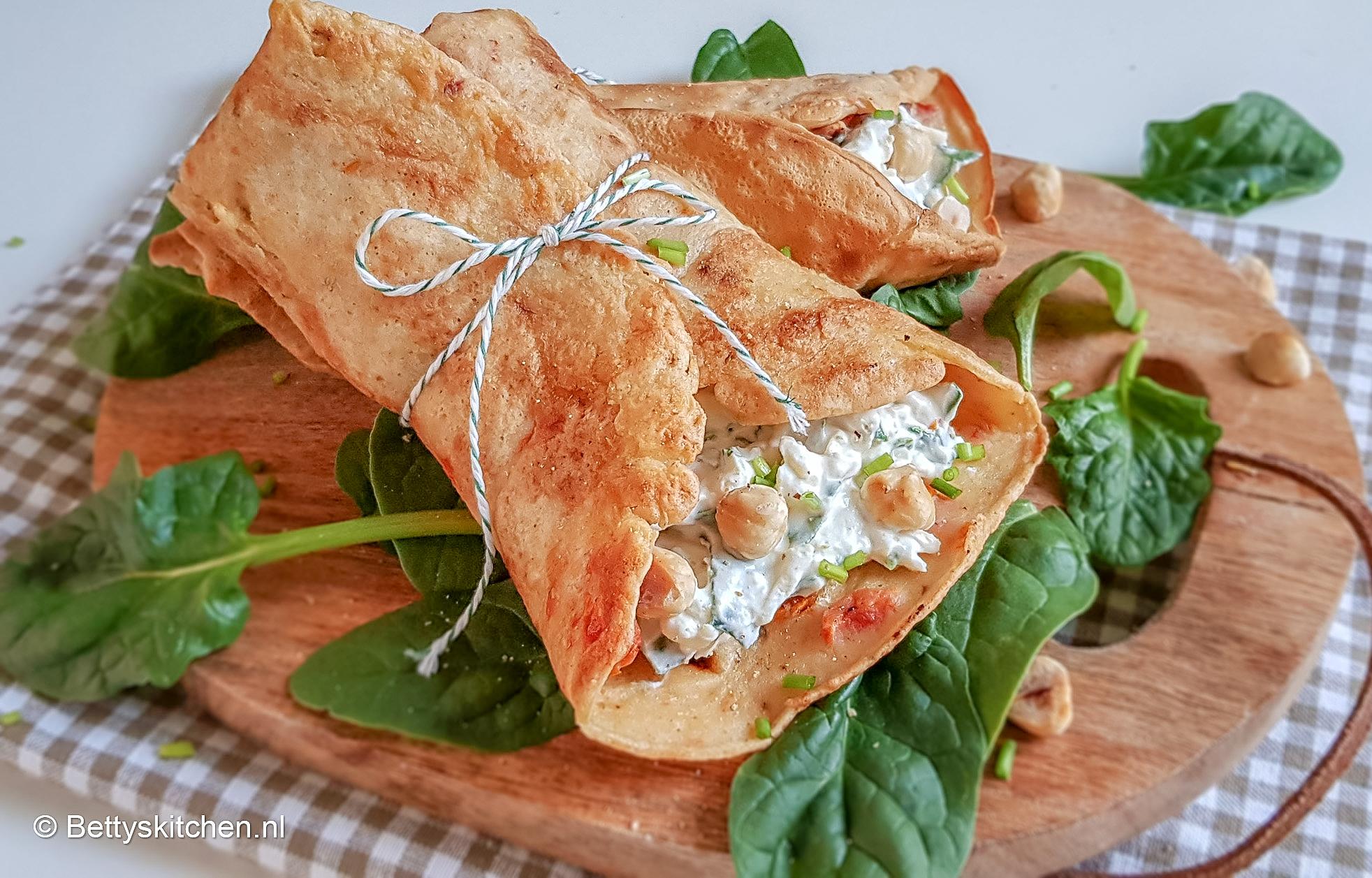 Vaak Gevulde hartige pannenkoeken (vegetarisch) | Recept | Betty's Kitchen &DC24