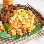 Gebakken rijst met ketjap tofu