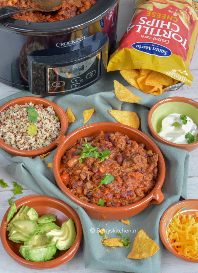 recept chili con carne uit de slowcooker © bettyskitchen