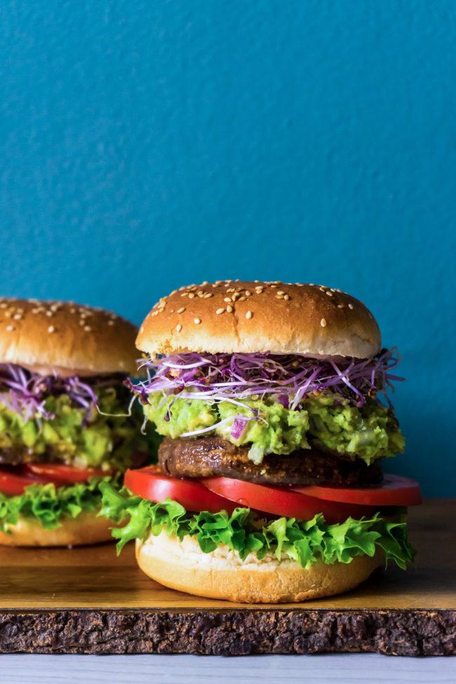 portobello burger met avocado #zokanhetook