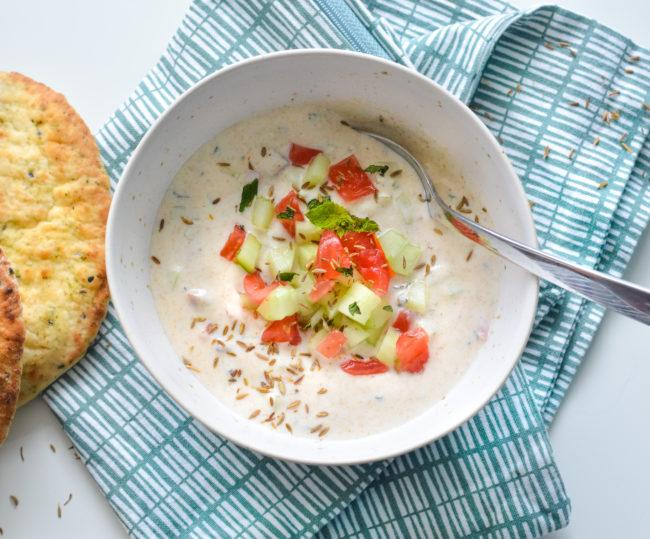 recept voor zelf raita maken indiase yoghurt dip