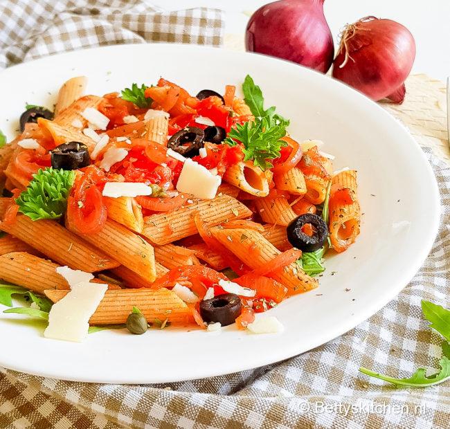 recept pasta alla puttanesca