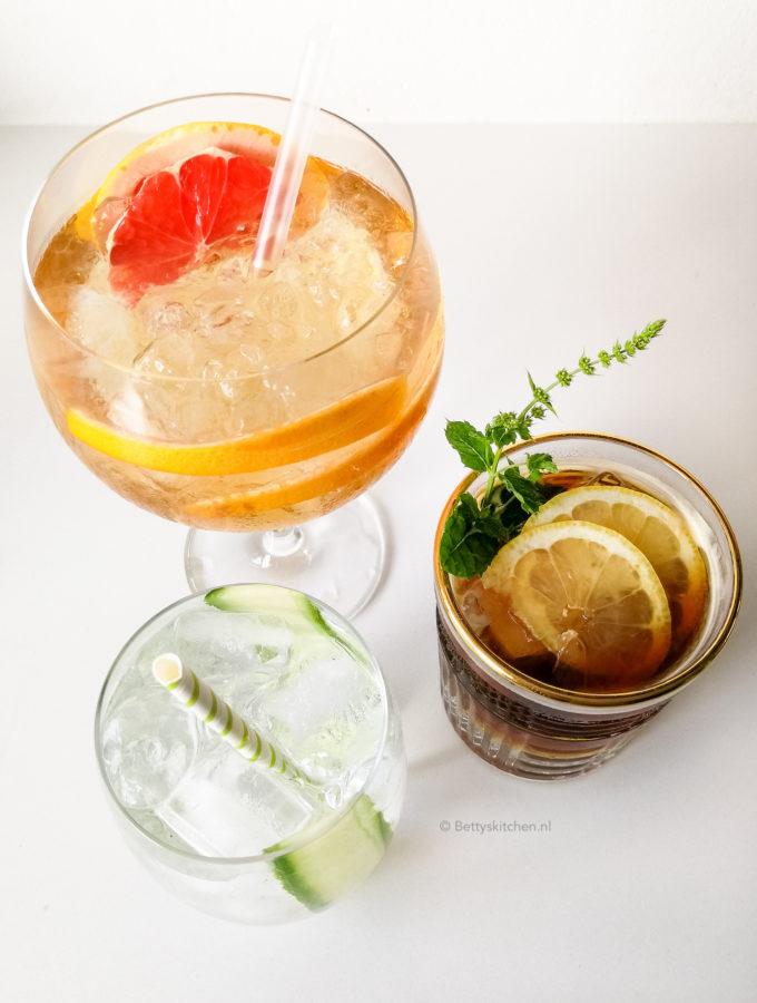 5x alcoholvrije gin tonic maken © bettyskitchen.nl
