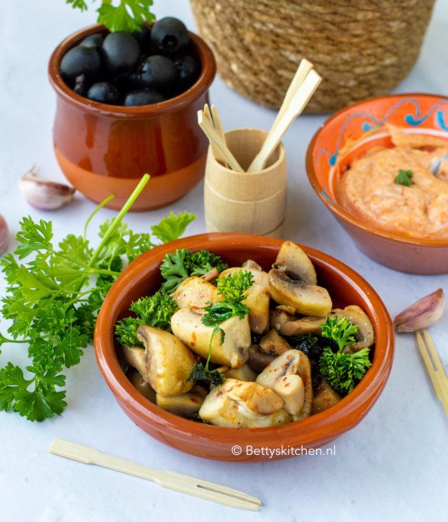 recept gemarineerde champignons tapas