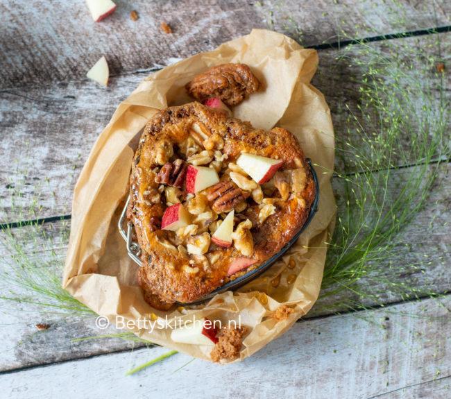 recept pindakaas taartje met appel uit de oven © bettyskitchen.nl