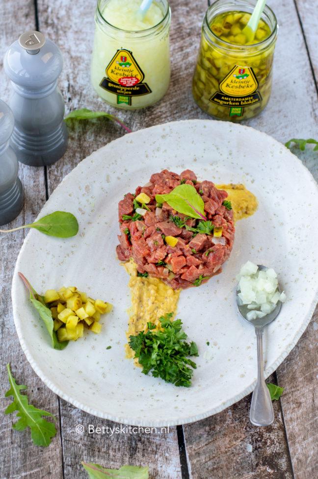 recept steak tartare met tafelzuren van Kesbeke © bettyskitchen.nl
