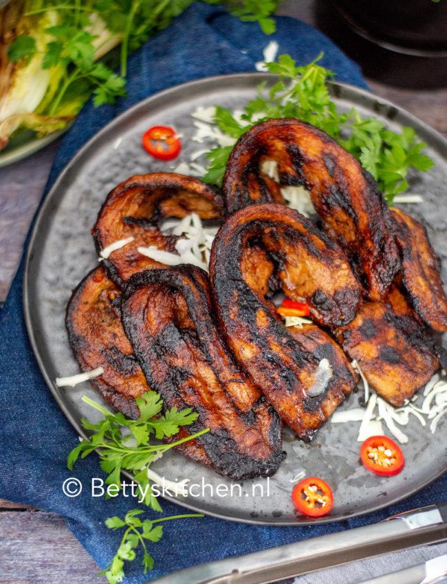 recept zoete speklapjes van de barbecue © bettyskitchen.nl