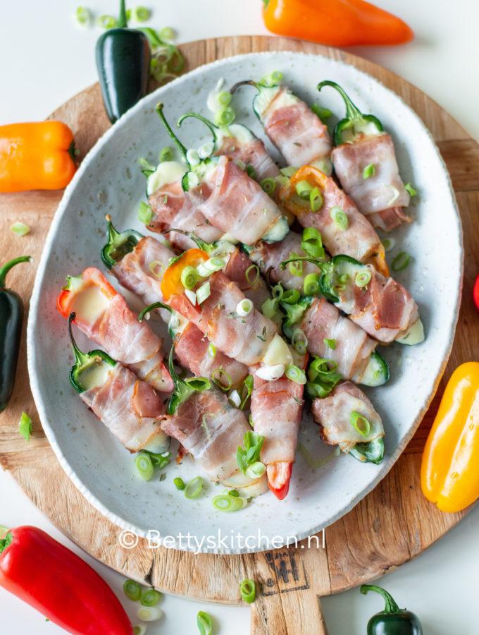 recept jalapeno poppers pepers van de barbecue met kaas © bettyskitchen