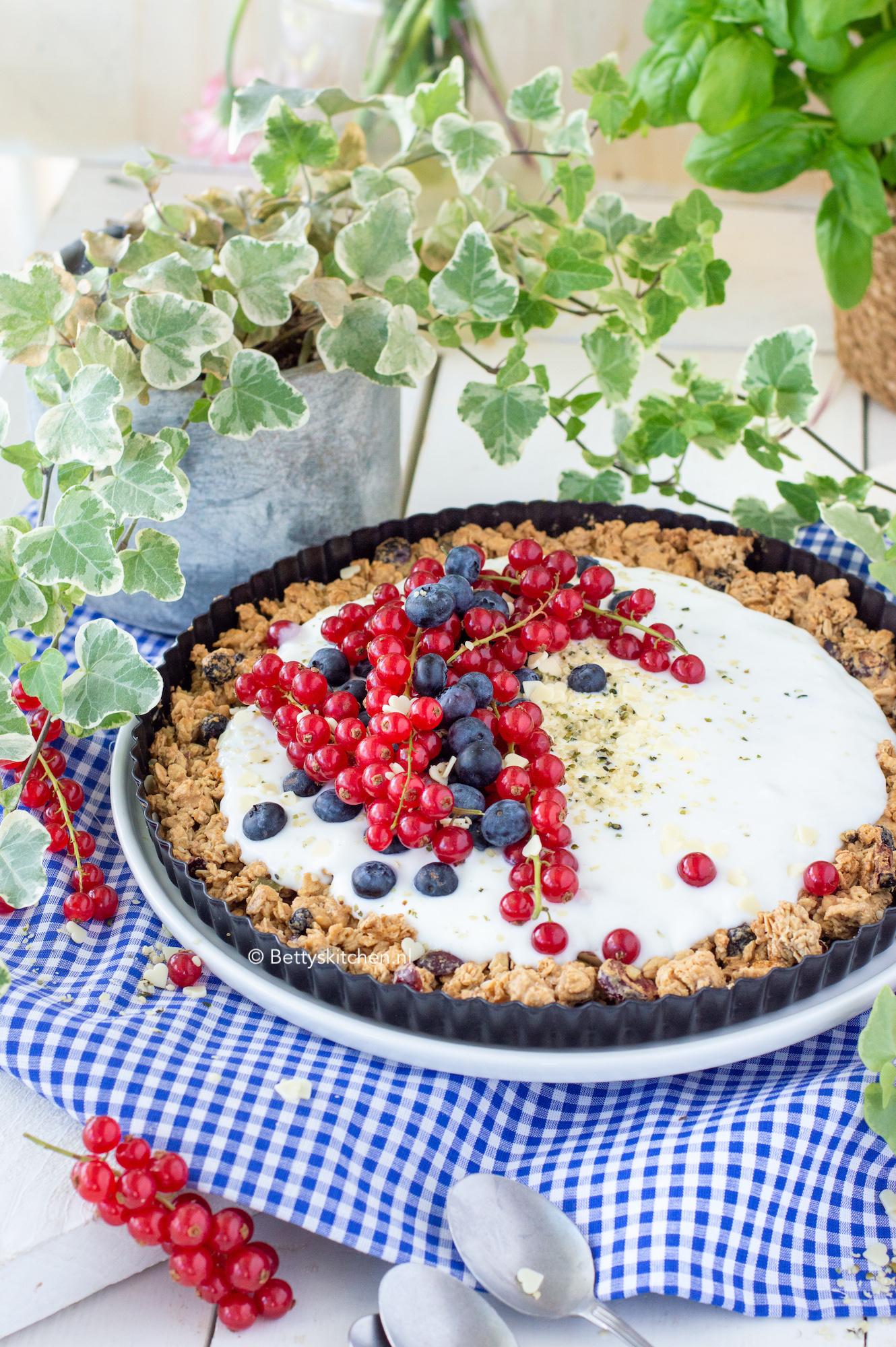 granola taart recept