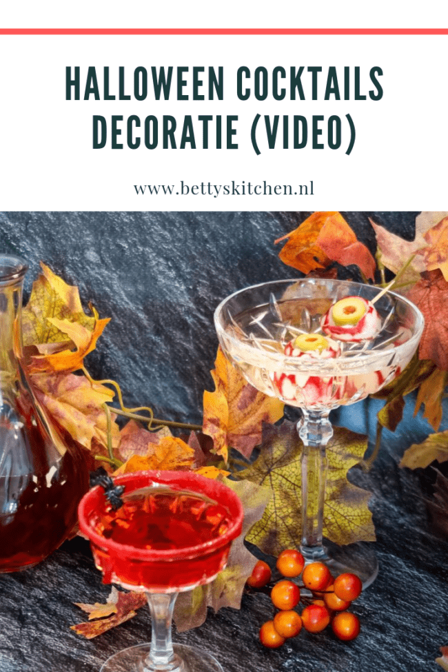 halloween cocktails decoratie van je glas © bettyskitchen