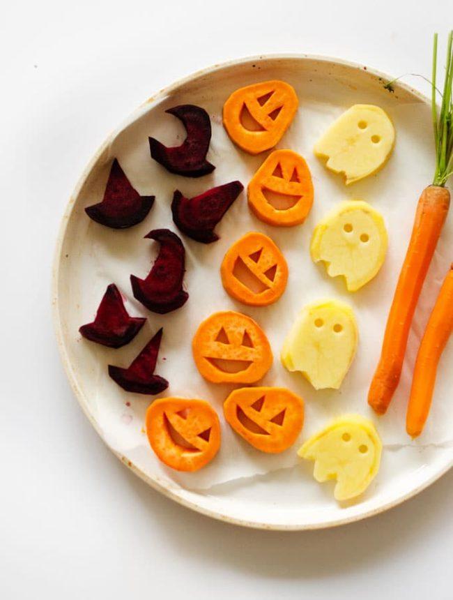 geroosterde groenten voor halloween snacks
