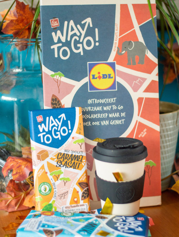 winactie LIDL way to go chocolade pakket met eCoffee Cup travelmug