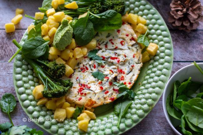 recept gebakken ricotta met groene groenten vegetarisch © bettysktichen.nl