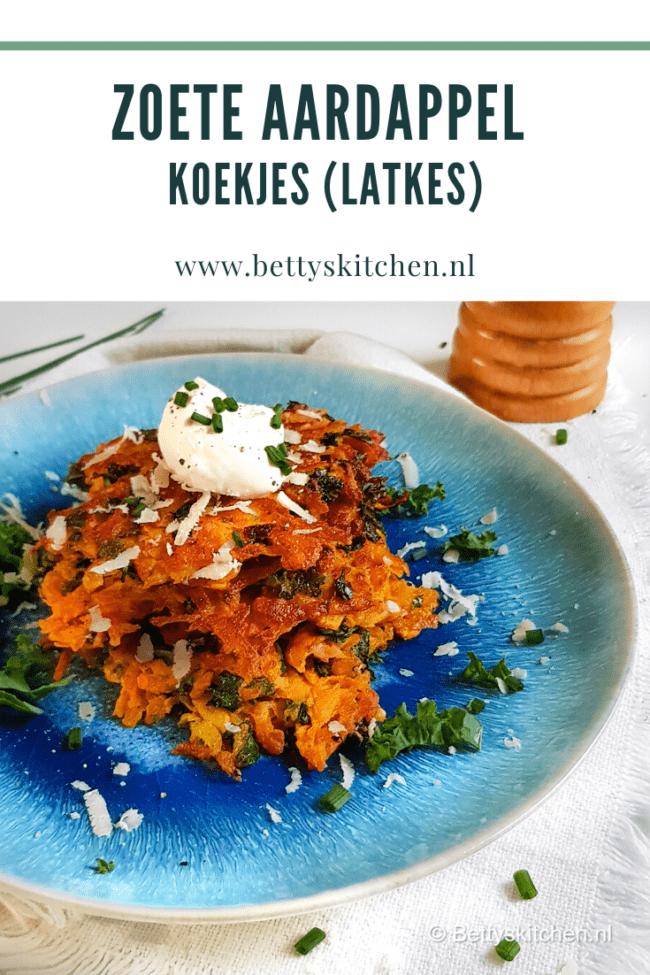 recept voor latkes maken zoete aardappel koekjes uit de joodse keuken