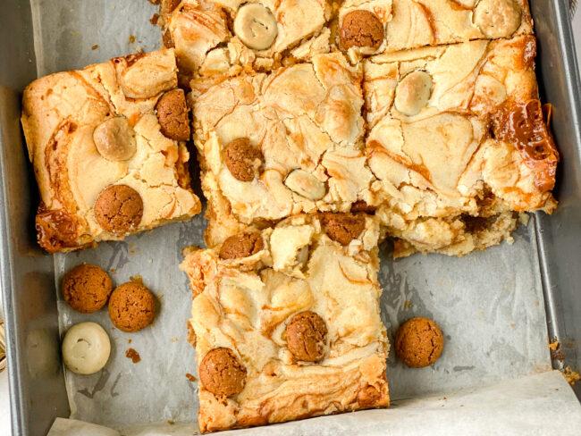 recept sinterklaas blondies met kruidnoten © bettyskitchen.nl 10x brownies en blondies recepten voor een blue monday Betty's Kitchen