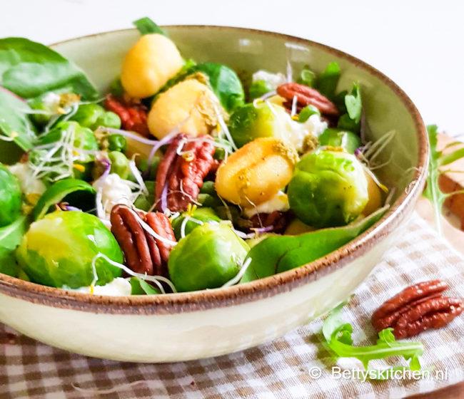 recept spruitjes schotel met gnocchi