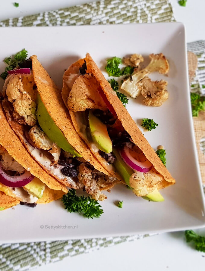recept tacos met geroosterde bloemkool