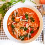 recept orzo maaltijdsoep met spinazie vegetarisch