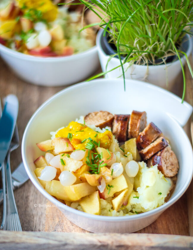 recept witlof stamppot met piccalilly, appel en tafezuren van Kesbeke © bettyskitchen