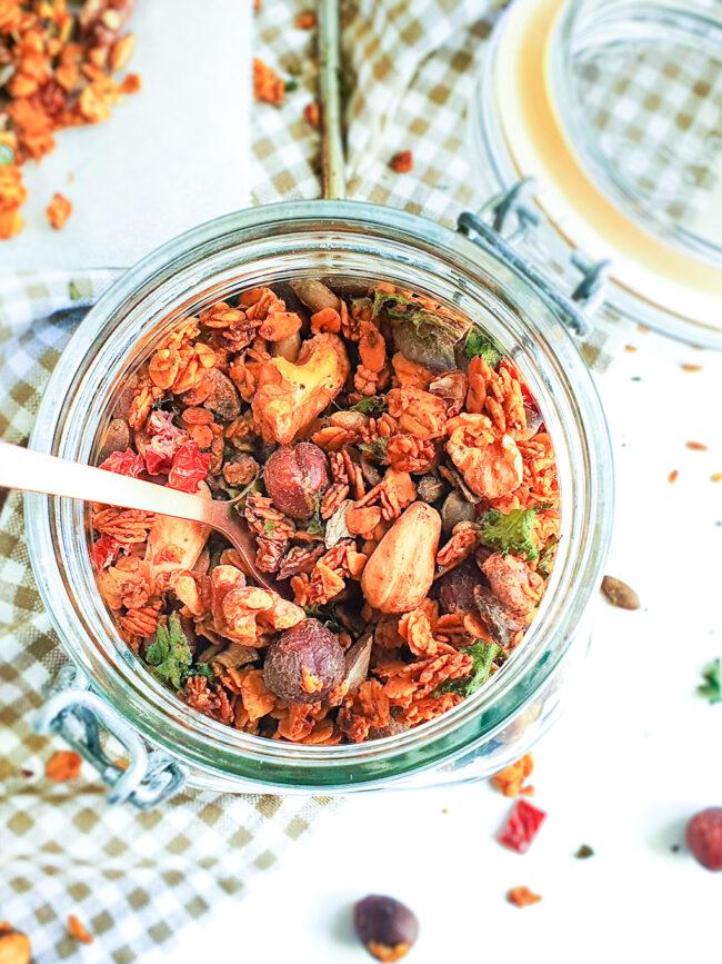 recept voor hartige granola