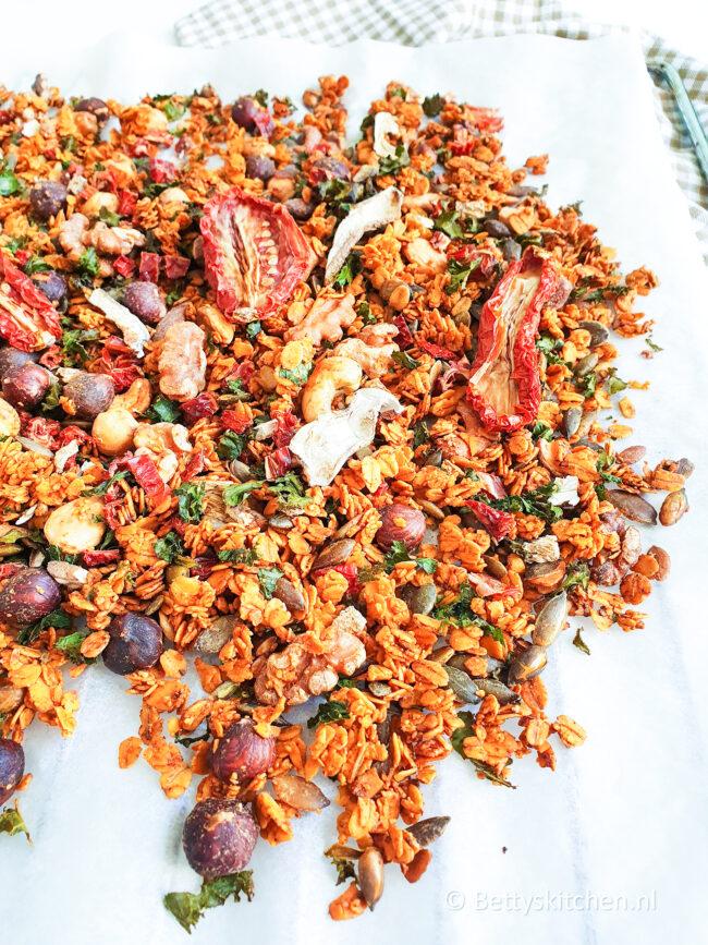 recept voor hartige granola © bettyskitchen
