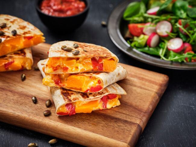 quesadilla met pompoen recept