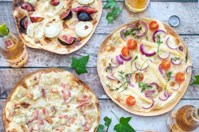 recept voor 4x flammkuchen maken van wraps tortilla kookvideo © bettyskitchen