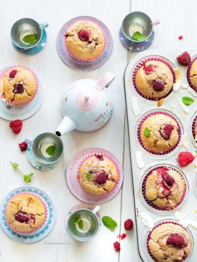 recept muffins met frambozen en kokos © bettyskitchen.nl