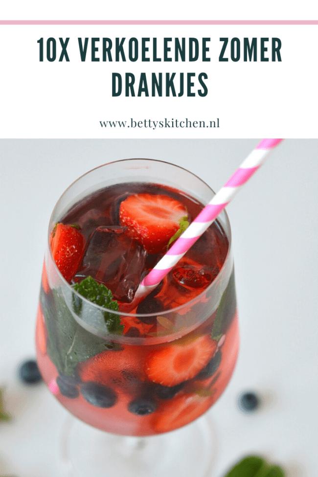 10x verkoelende zomer drankjes