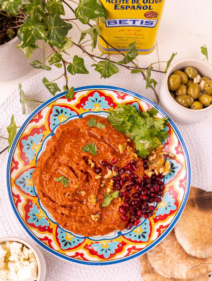 recept muhammara dip met paprika en walnoten © bettyskichen.nl