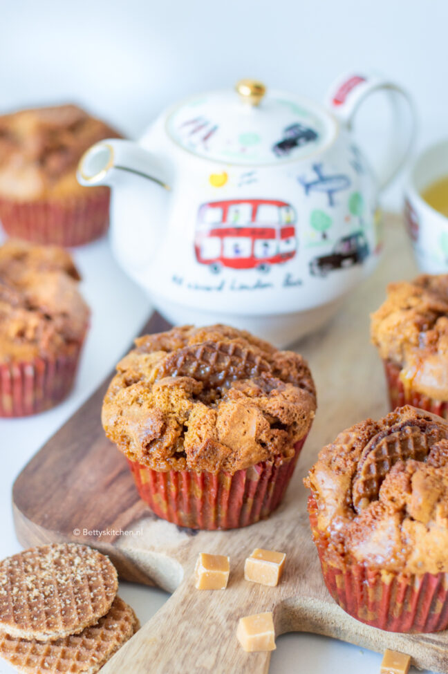 recept stroopwafel muffins maken